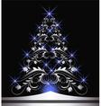 Christmas silver fur tree vector image