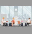businessman working in modern office vector image