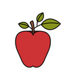 colorful silhouette image red apple fruit vector image