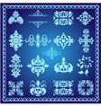 decorative design elements blue vector image