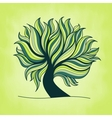 Green fresh colorful tree with branches and leaves vector image