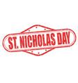 saint nicholas day stamp vector image