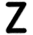Sprayed Z font graffiti in black over white vector image