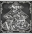 Vintage Greeting Card Text on a Blackboard vector image