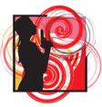 woman with a gun vector image