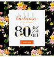 Autumn Sale Hortensia Banner - for Discount Poster vector image