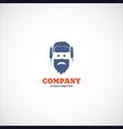 ushanka man company logo vector image vector image