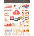 Cloud Service Infographic Elements vector image