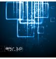 Hi-tech world map design vector image vector image
