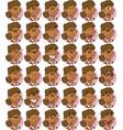set of curly hair black businesswoman emojis vector image