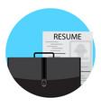 unemployment icon flat vector image