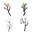 deer antlers isolated on white set of vector image