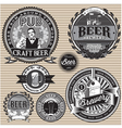 set retro icons to topic beer vector image