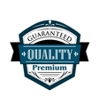 Premium Guaranteed Quality label design vector image vector image