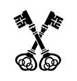 Keys simple icon vector image