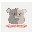 Koala hug vector image