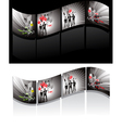 illustrated filmstrips vector image