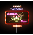 Sushi bar neon sign vector image