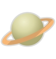 planet saturn icon vector image