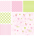 Baby shower Seamless patterns - swatches vector image
