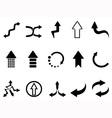 black arrow icons set vector image