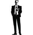 Businessman talking vector image