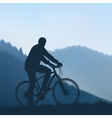 Cyclist in the mountains vector image