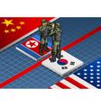 Korean crisis vector image