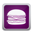 purple emblem humburger icon vector image