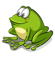 A frog going with the flow vector image