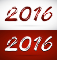 Calligraphy 2016 New Year sign vector image vector image