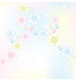 vector abstract floral background vector image vector image