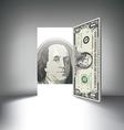 Money Door one hundred vector image