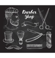 vintage hand drawn Barber Shop set on vector image