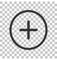 Positive symbol plus sign Dark gray icon on vector image