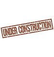 under construction stamp vector image