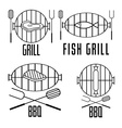 bbq set and design elements vector image