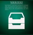 document inbox flat icon on green background vector image