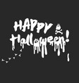 happy halloween calligraphy lettering vector image