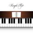 piano design vector image