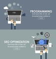 programming and seo optimization vector image