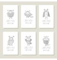 Set of cards invitation with hand drawn vector image