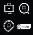 travel icon black and white vector image