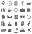 Travel icons on white background vector image