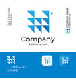 triangles abstract modern logo design for serious vector image
