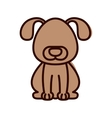 silhouette with dog domestic animal color vector image
