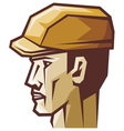 worker head profile vector image vector image