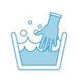 laundry tank with gloves vector image