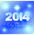 Merry Christmas light background with stars vector image vector image