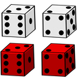 Cartoon dice vector image vector image